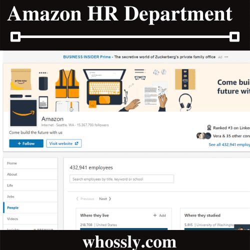 How To Contact Amazon HR Department?