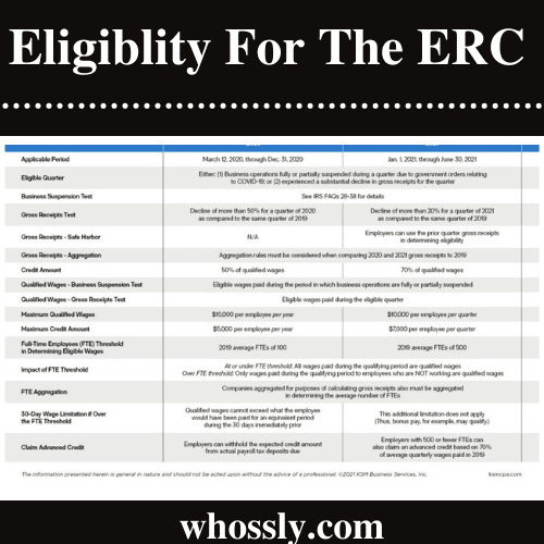 Who Is Eligible For The ERC?